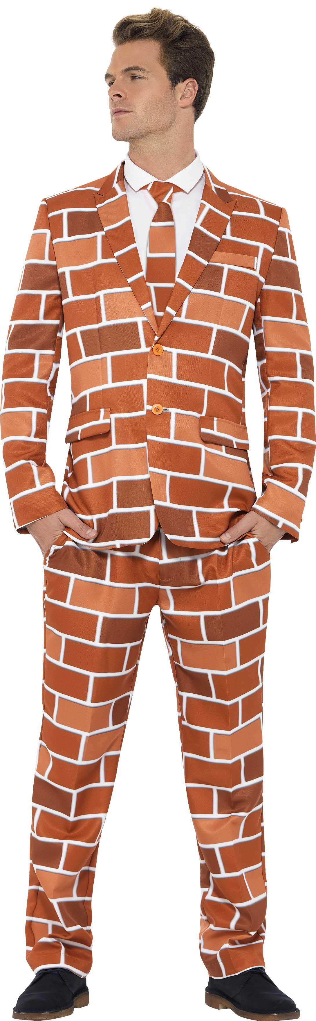 Men S Brick Pattern Off The Wall Stand Out Suit Fancy
