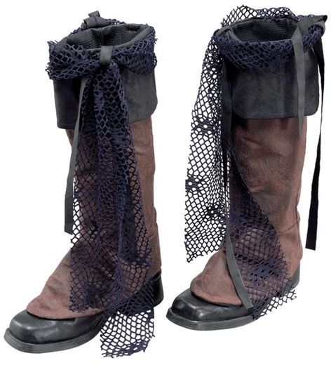 pirate boot tops brown distressed look fancy
