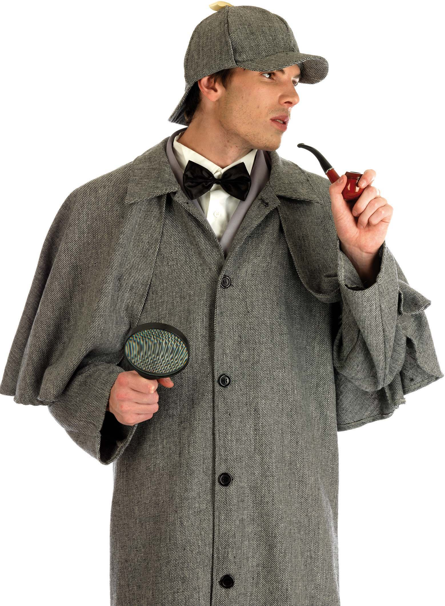 Victorian Detective Fancy Dress Costume Mens Old English