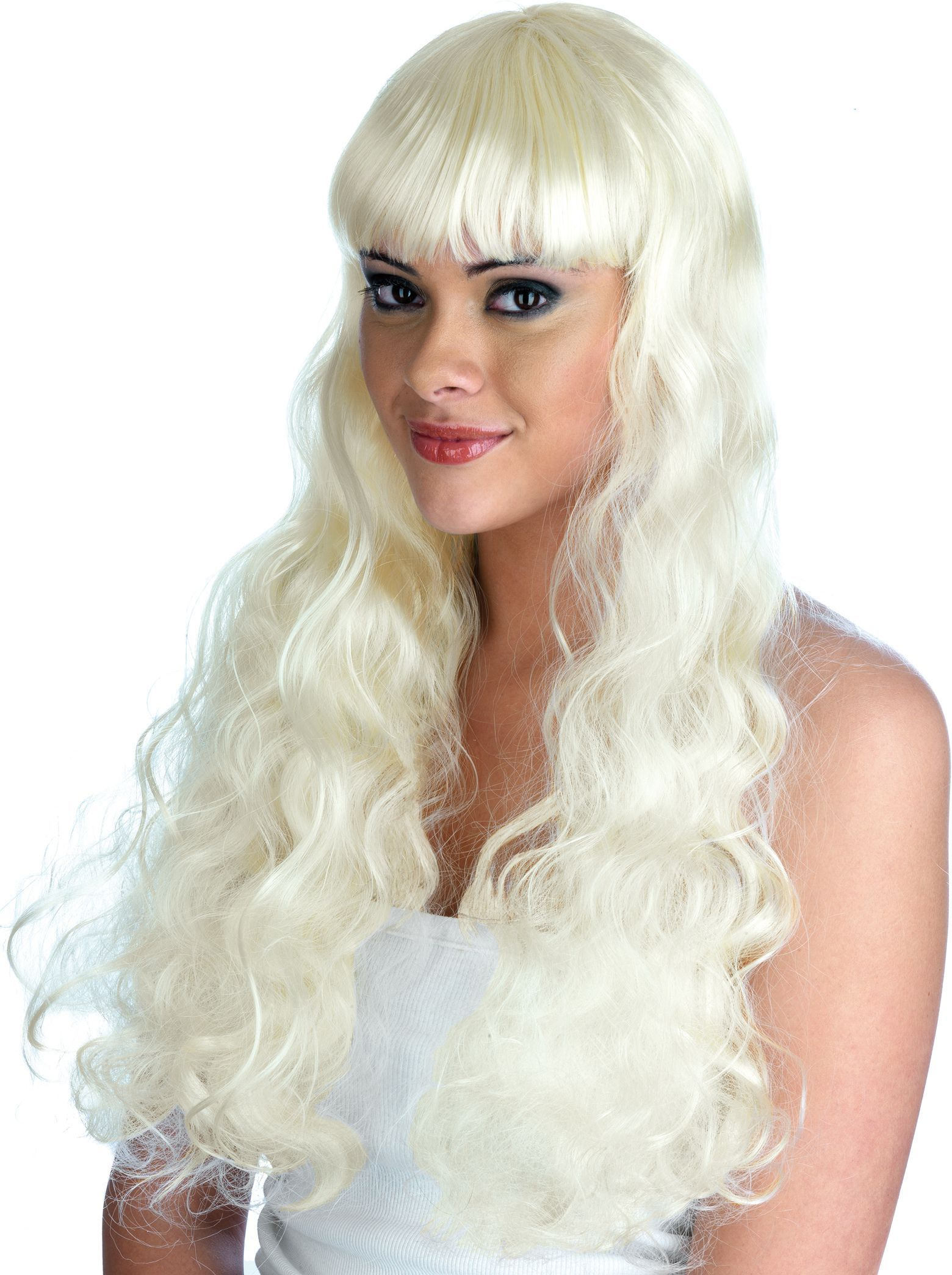 Blonde Pin Up Girl Wig Pet 180g One Size Ladies 1950s