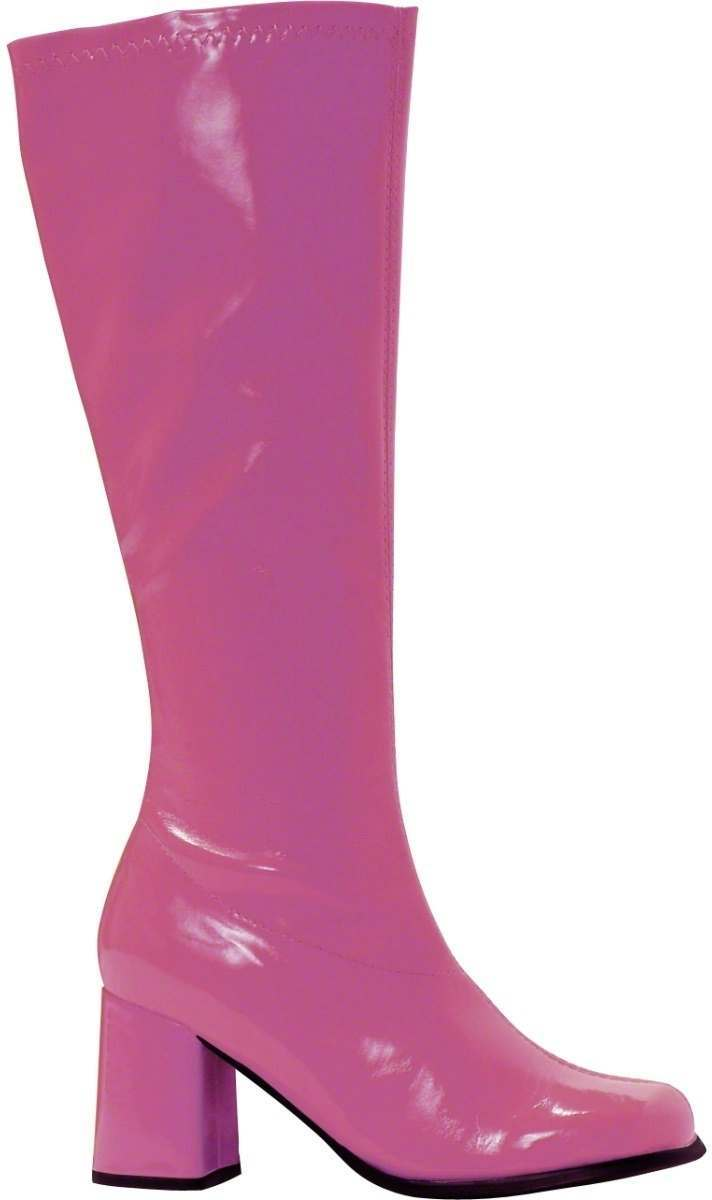 gogo 60s style patent boots fancy dress 1960s