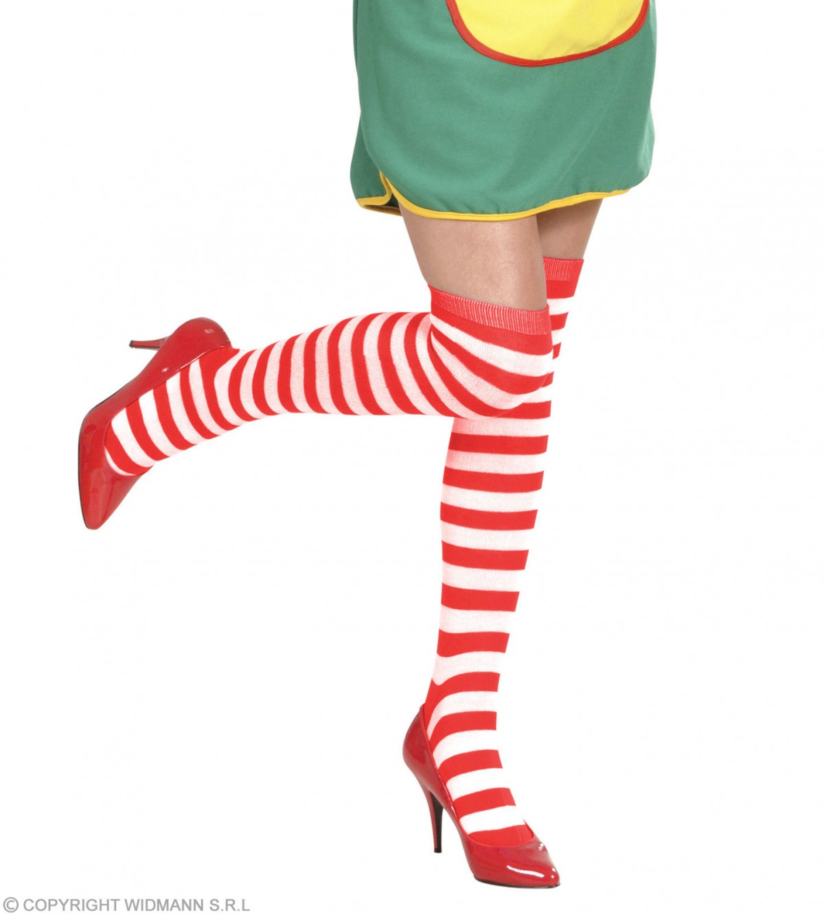 2c4d40162 More Views. Striped Over The Knee Socks White - Red - Fancy Dress SANC2999R