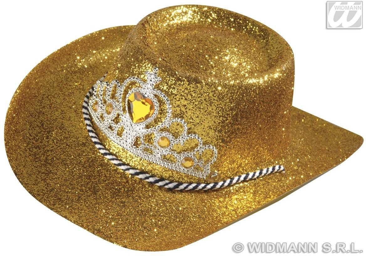 c3a5067739a Cowgirl Hat Glitter W Jewel Tiara 4 Cols - Fancy Dress (Cowboys Native  Americans). SANC2802G