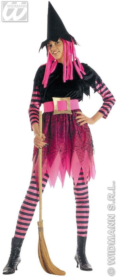 Funky Witch Adult Fancy Dress Costume Ladies Halloween