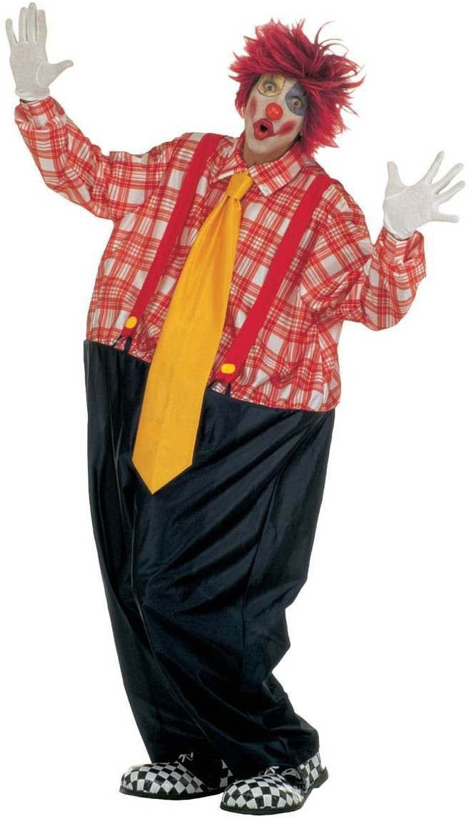 Fat Clown Costume Fancy Dress Costume Mens Size 40-44 M -2010