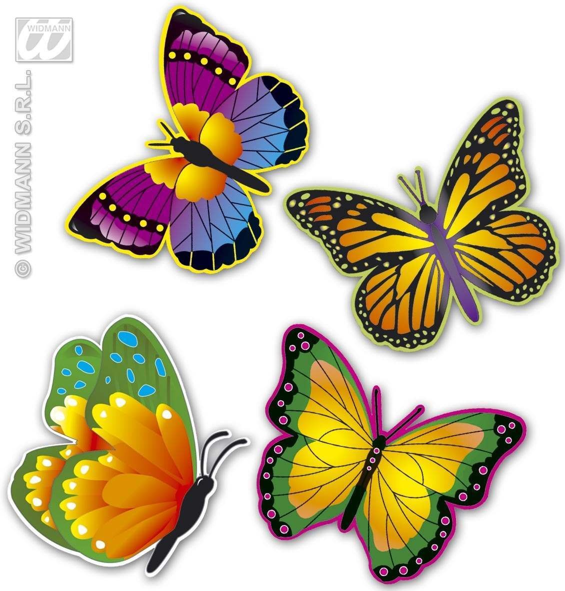 Buy neon butterfly decoration 4styles fancy dress for Decoration 4