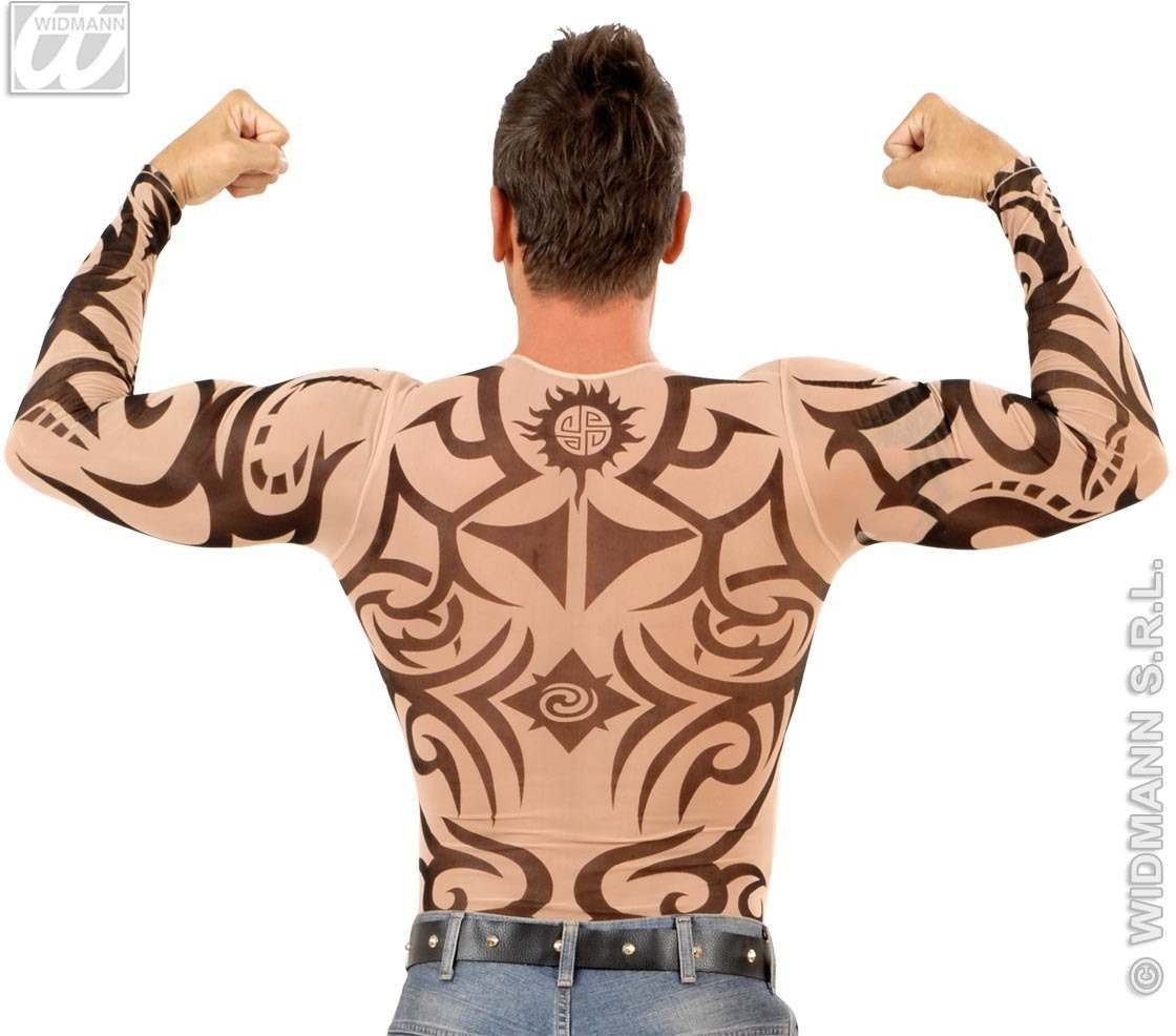 picture shirt ideas in spanish - Tattoo Shirt Tribal Mens Fancy Dress Costume