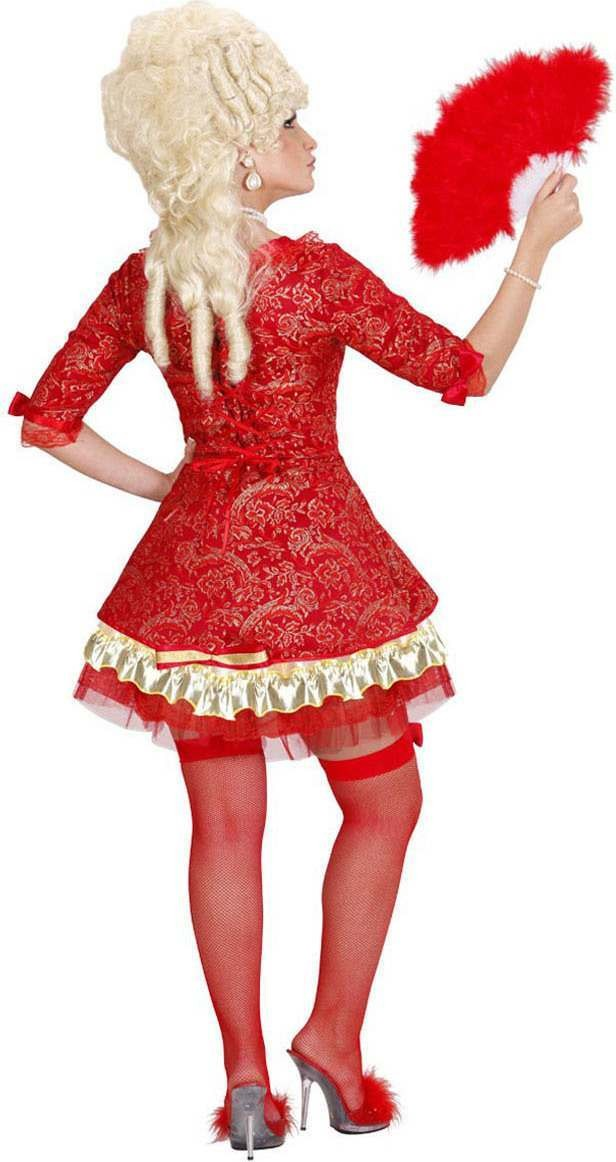 Buy Ladies Red Baroque Queen Royal Outfit Red