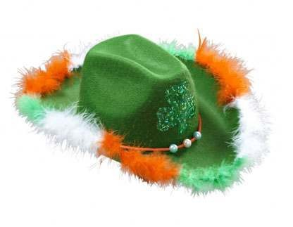 Felt St. Patricks Day Hat W/Shamrock