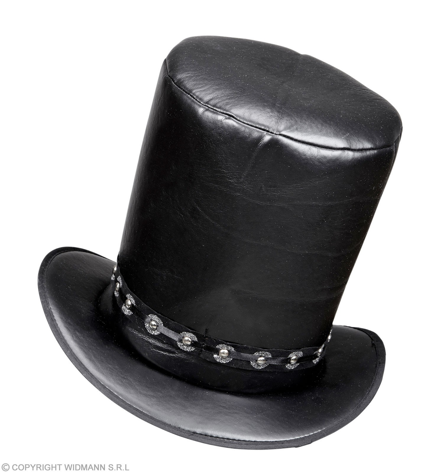 Black Leather Look Rock Star Hat Fancy Dress Accessory