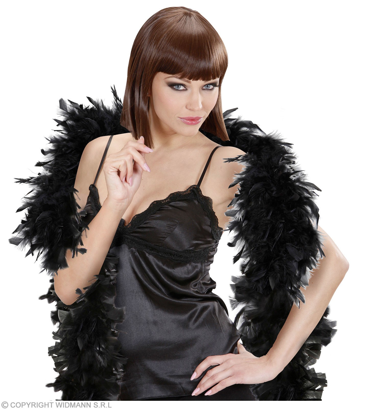 Feather Boa Small Black - Fancy Dress