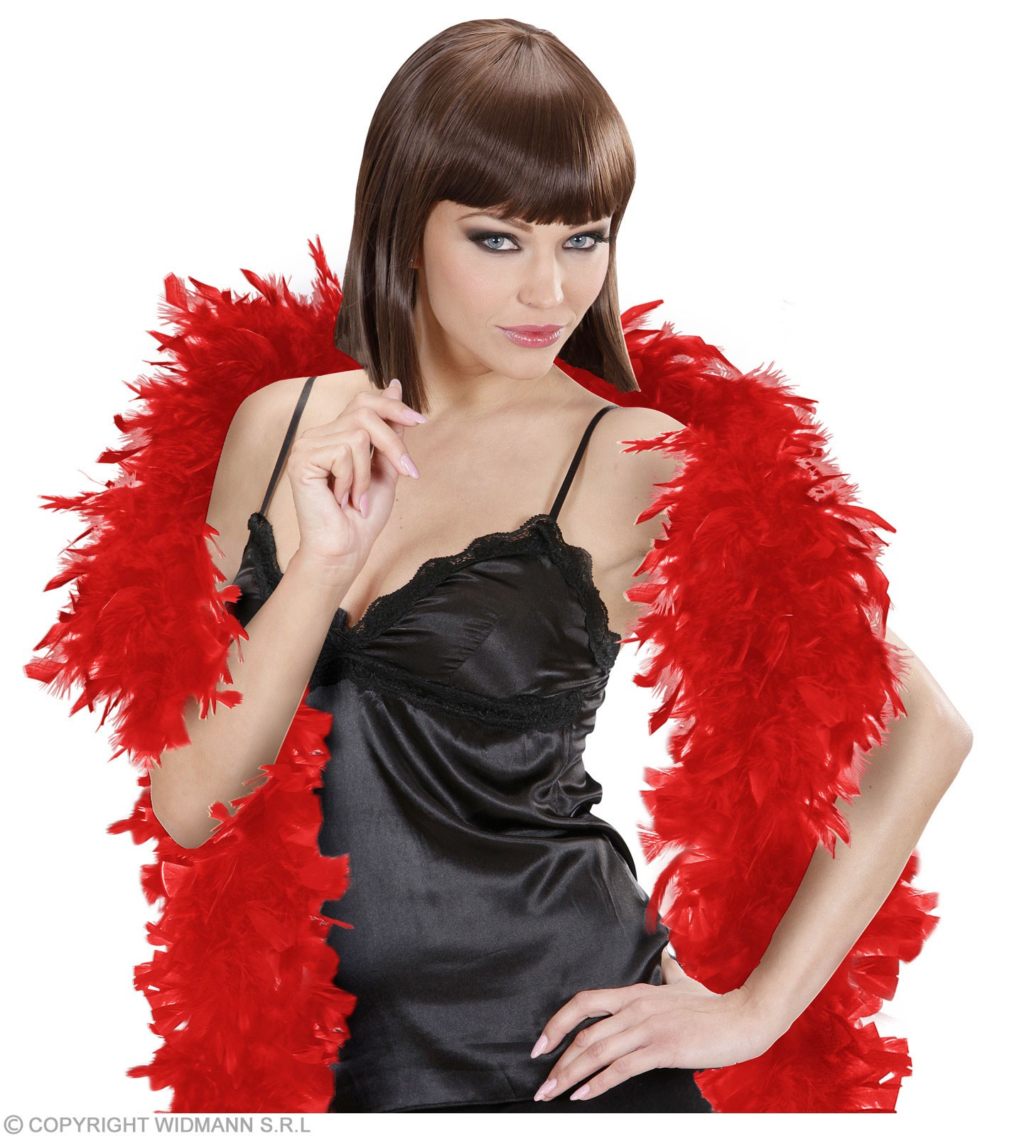 Feather Boa Small Red - Fancy Dress