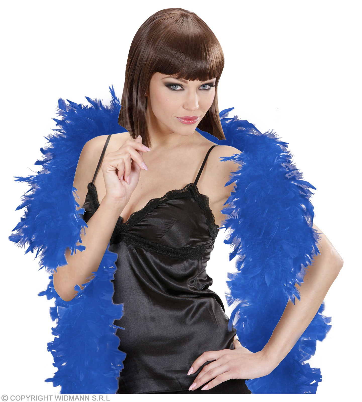 Feather Boa Small Blue 180Cm - Fancy Dress