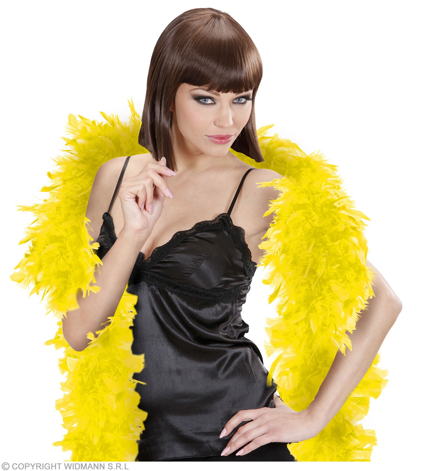 Feather Boa Small Yellow 180Cm - Fancy Dress