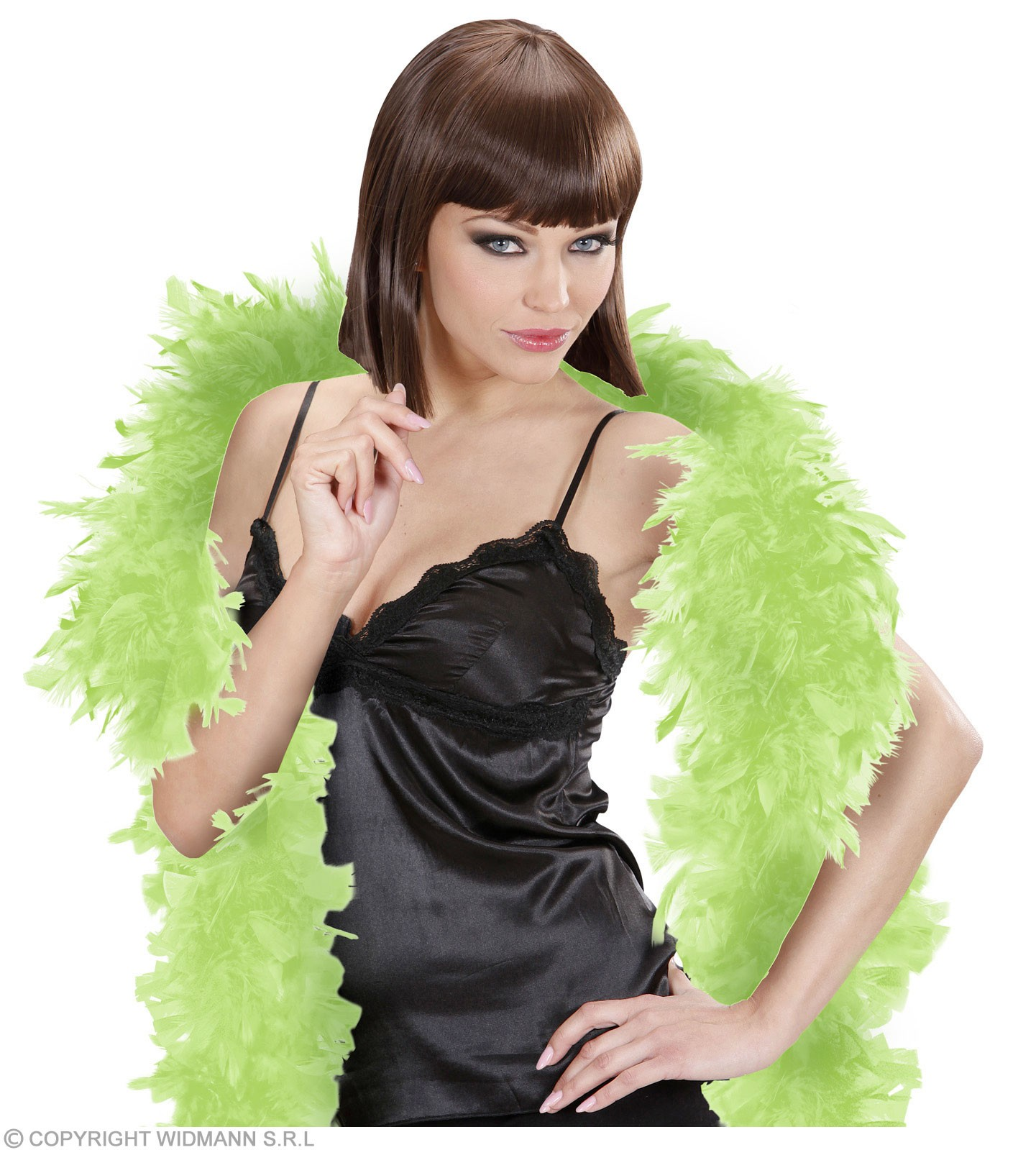 Feather Boa Small Lime 180Cm - Fancy Dress
