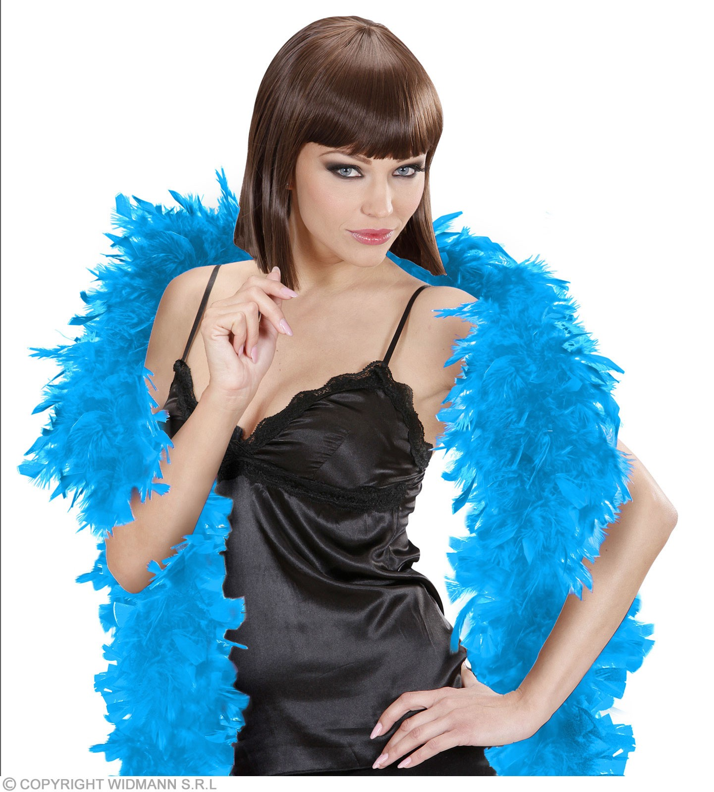 Feather Boa Small Turquoise 180Cm - Fancy Dress