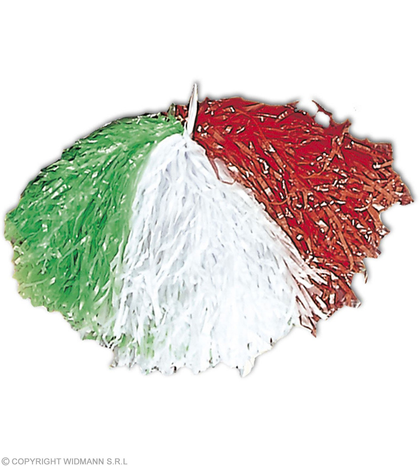 Tricolour Pom Pom - Green/White/Red Fancy Dress