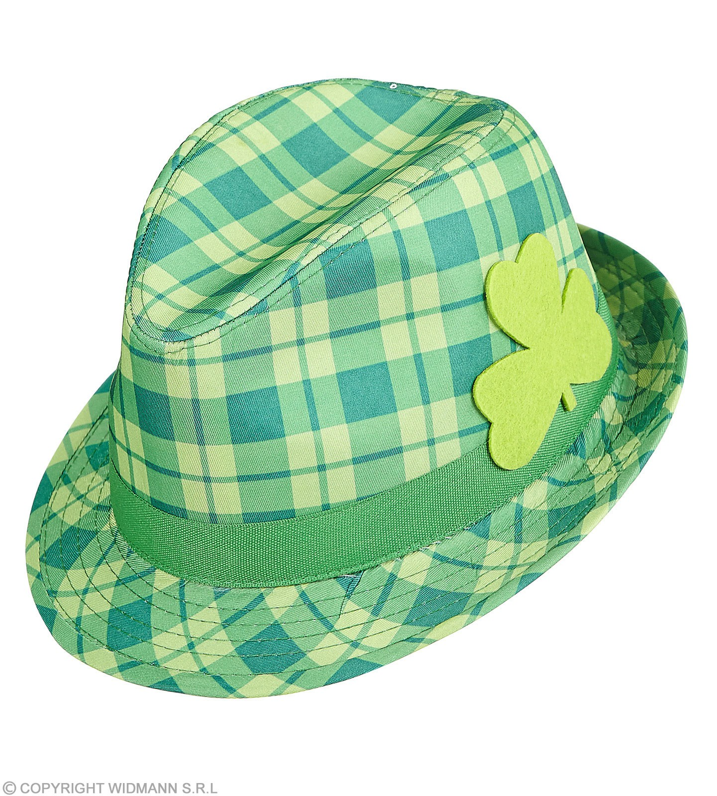 4d412c5300fe75 Buy adult green checkered st patrick fedora hat fancy dress accessory ...