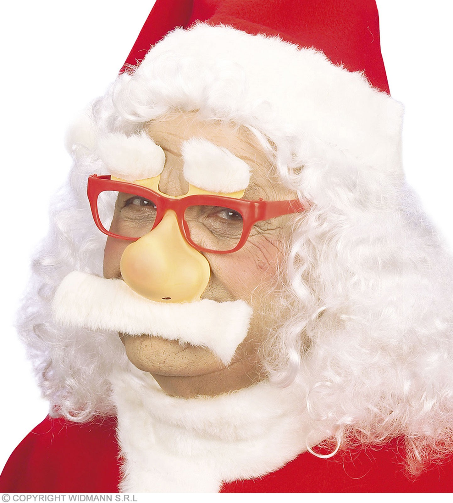 Santa Glasses W/Nose Tash Eyebrows - Fancy Dress (Christmas)