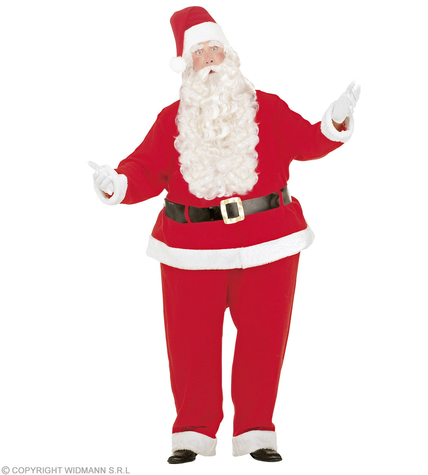 Fat Santa Claus Costume Costume Mens Size 40-44 M (Christmas)