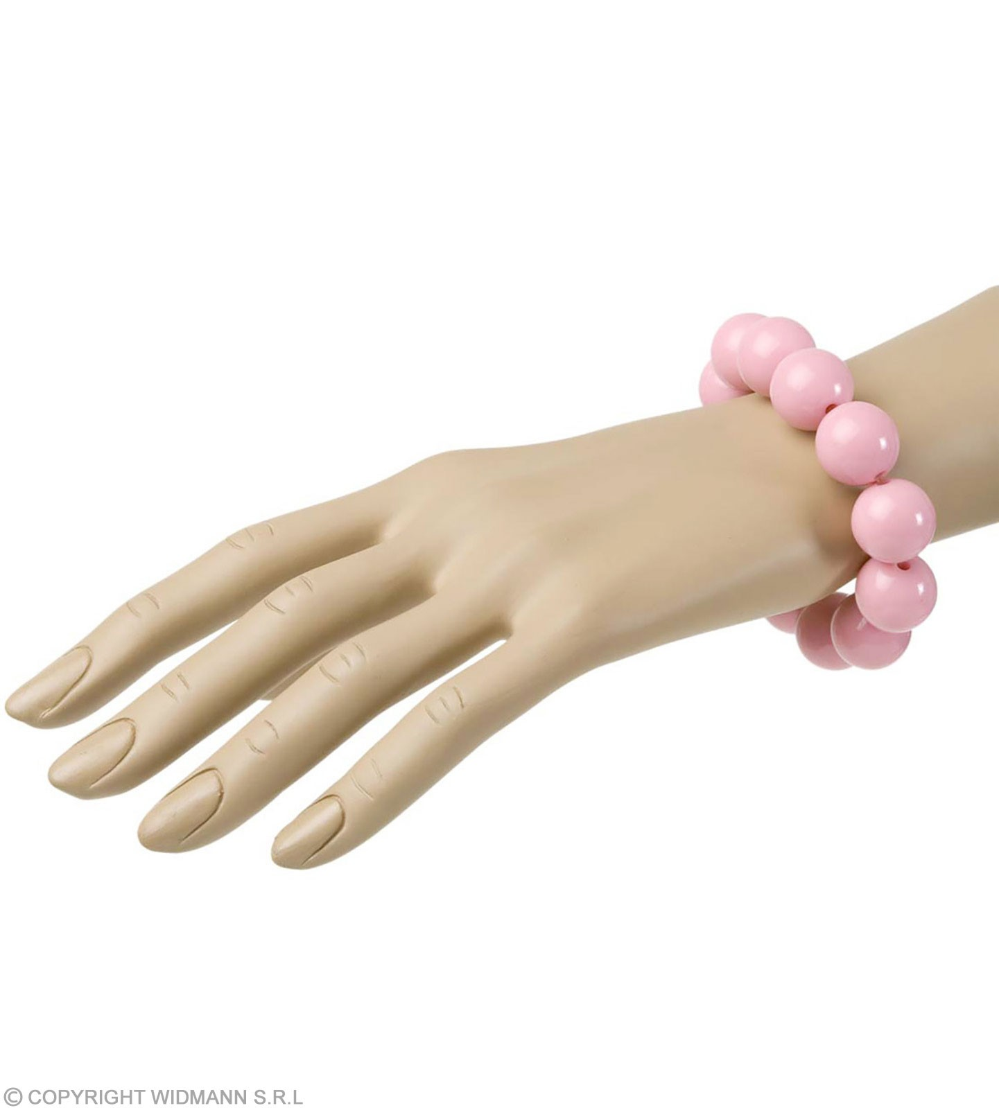 70S Beaded Bracelet - Pink - Fancy Dress (1970S)