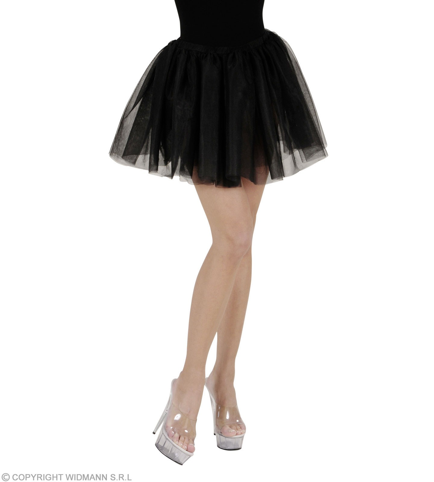 Tutu Adult Size - Black - Fancy Dress Ladies