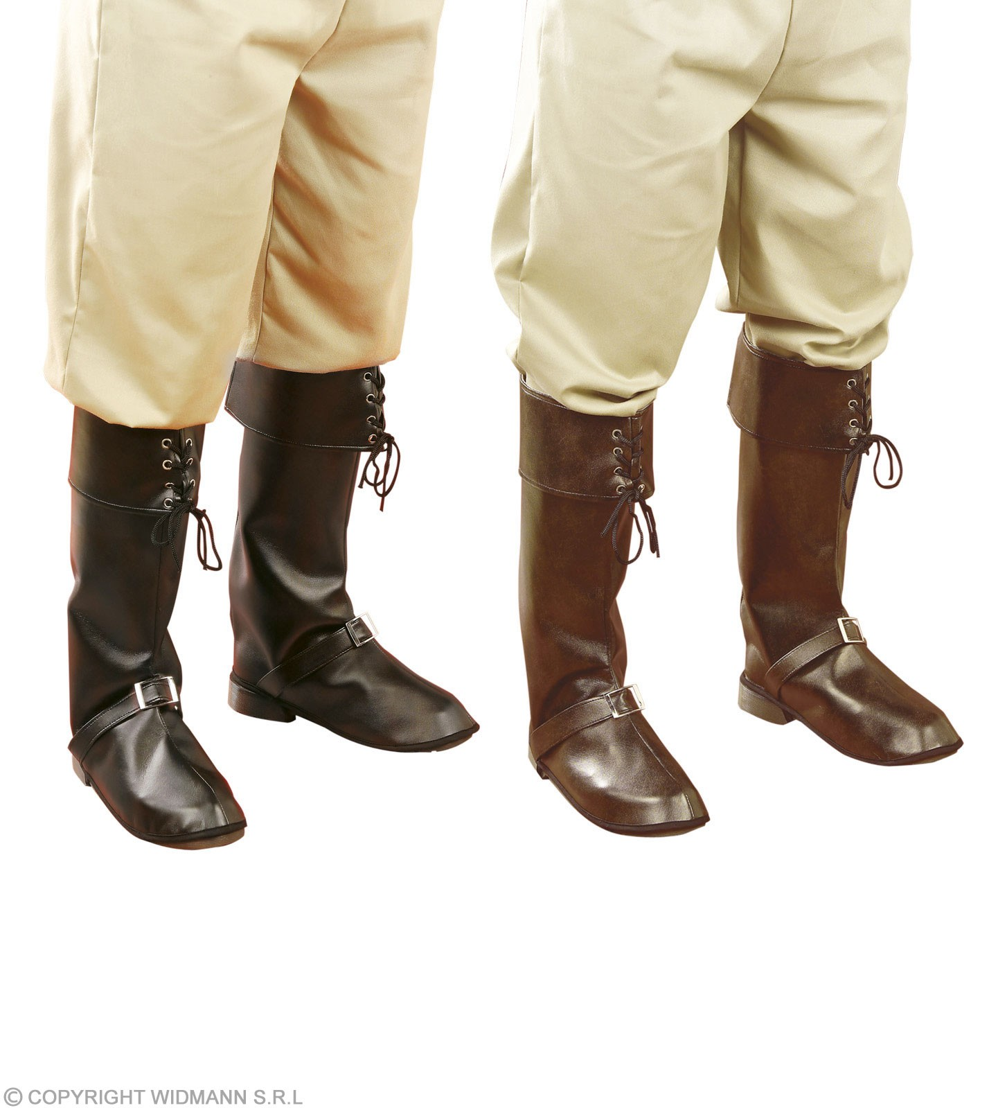 Boot Covers W/Buckle Black/Brown - Fancy Dress