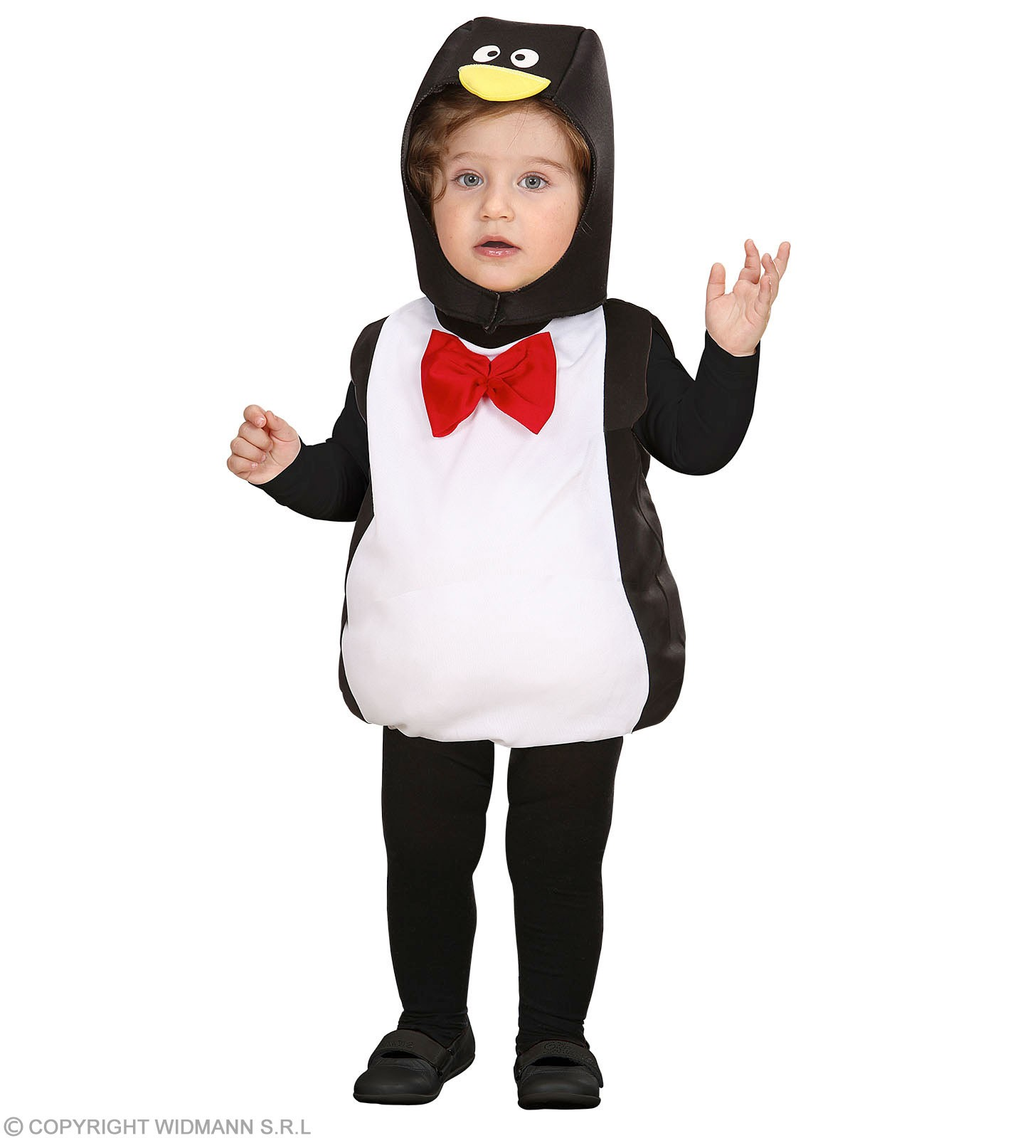 Girls Penguin (104Cm) (Jumpsuit Headpiece) Animal Outfit - Age 2-3 (Black)