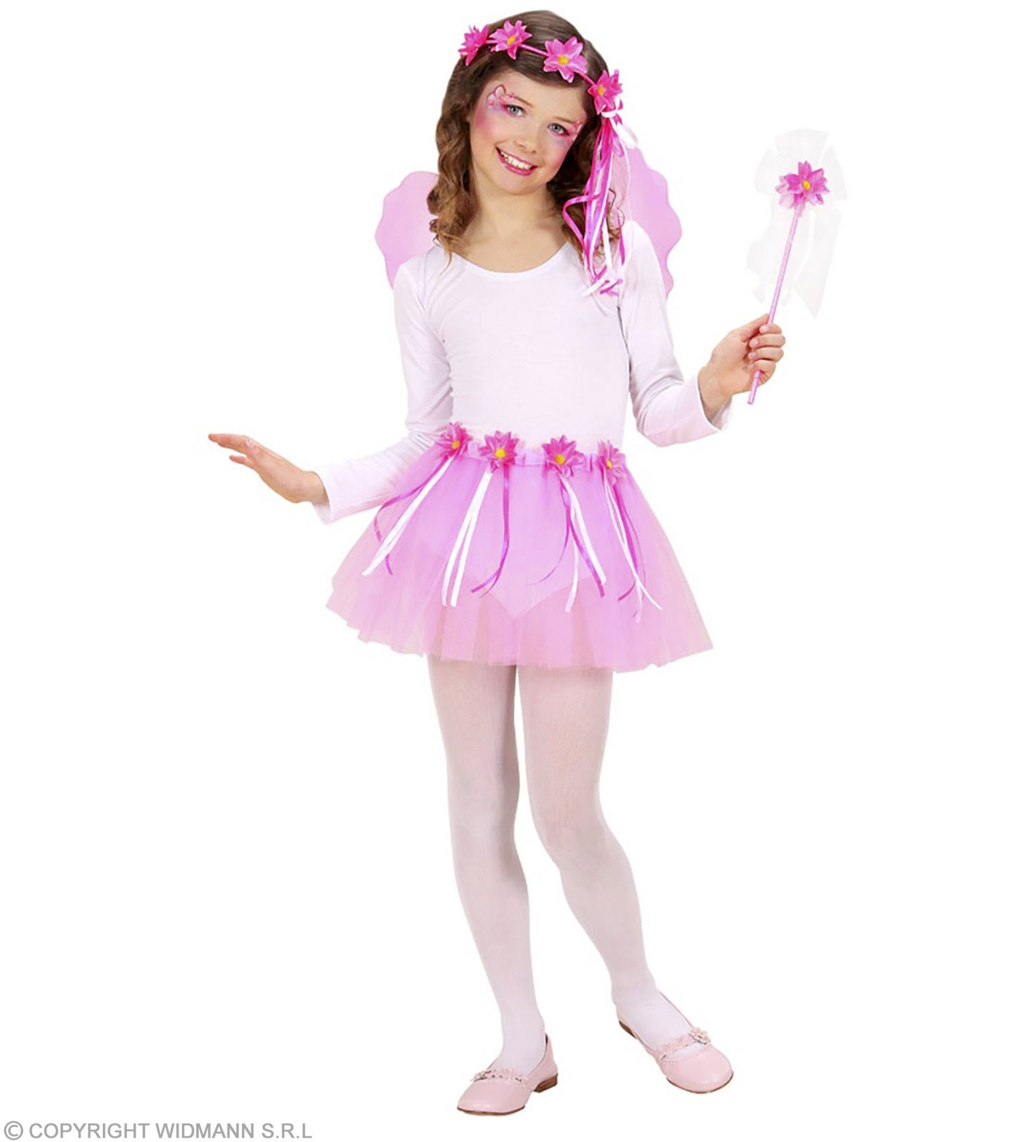 Flwr Fairy Set:Tutu,Wings,Headpiece,Wand Fancy Dress(Fairy Tales)