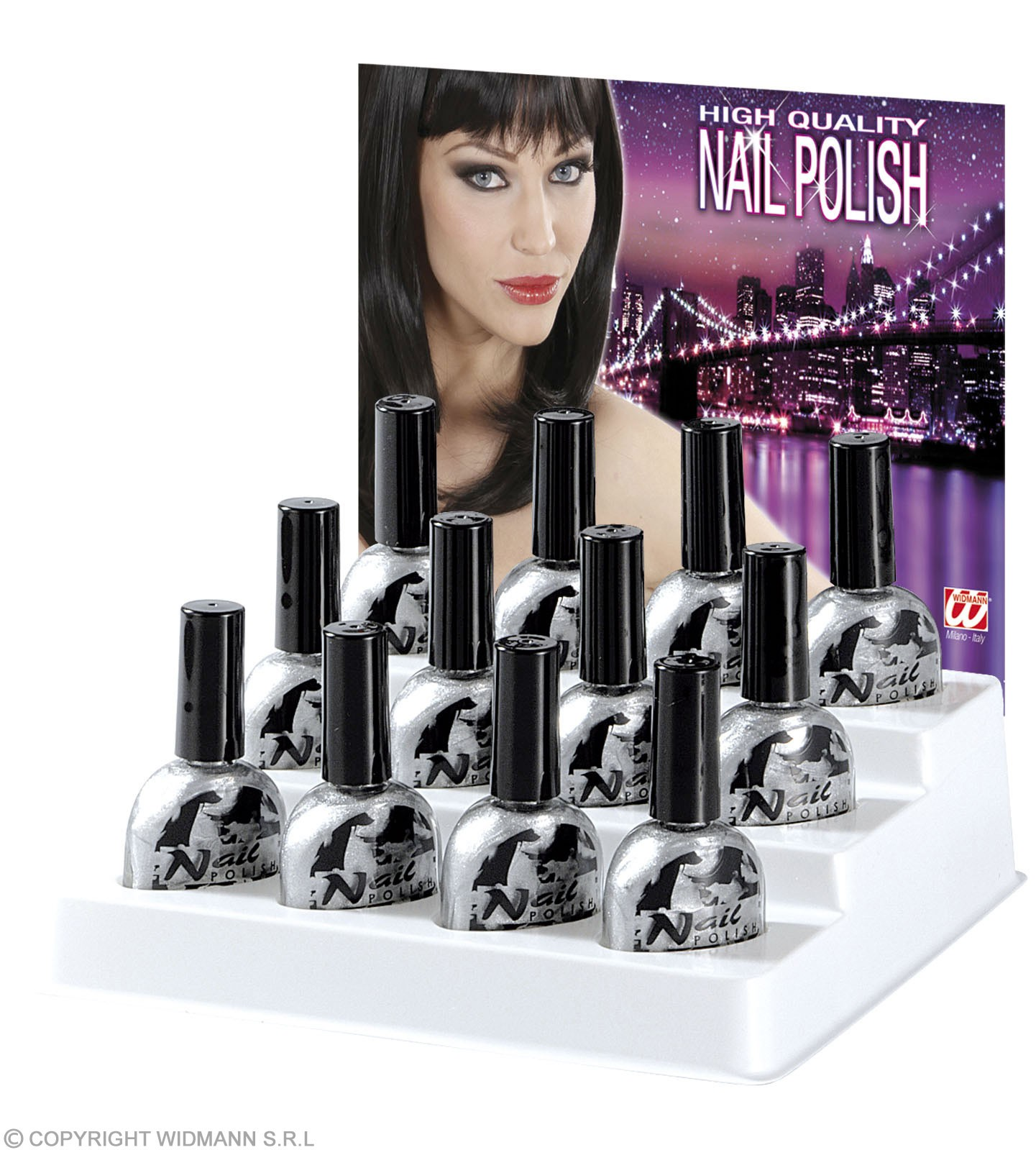 Nail Polish Silver 7Ml - Fancy Dress