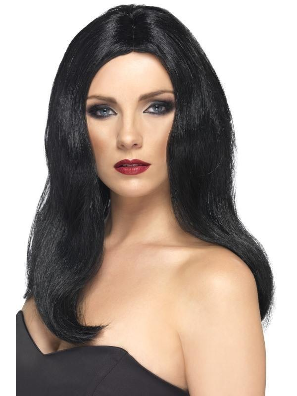 Alluring Wig - Fancy Dress Ladies - Black