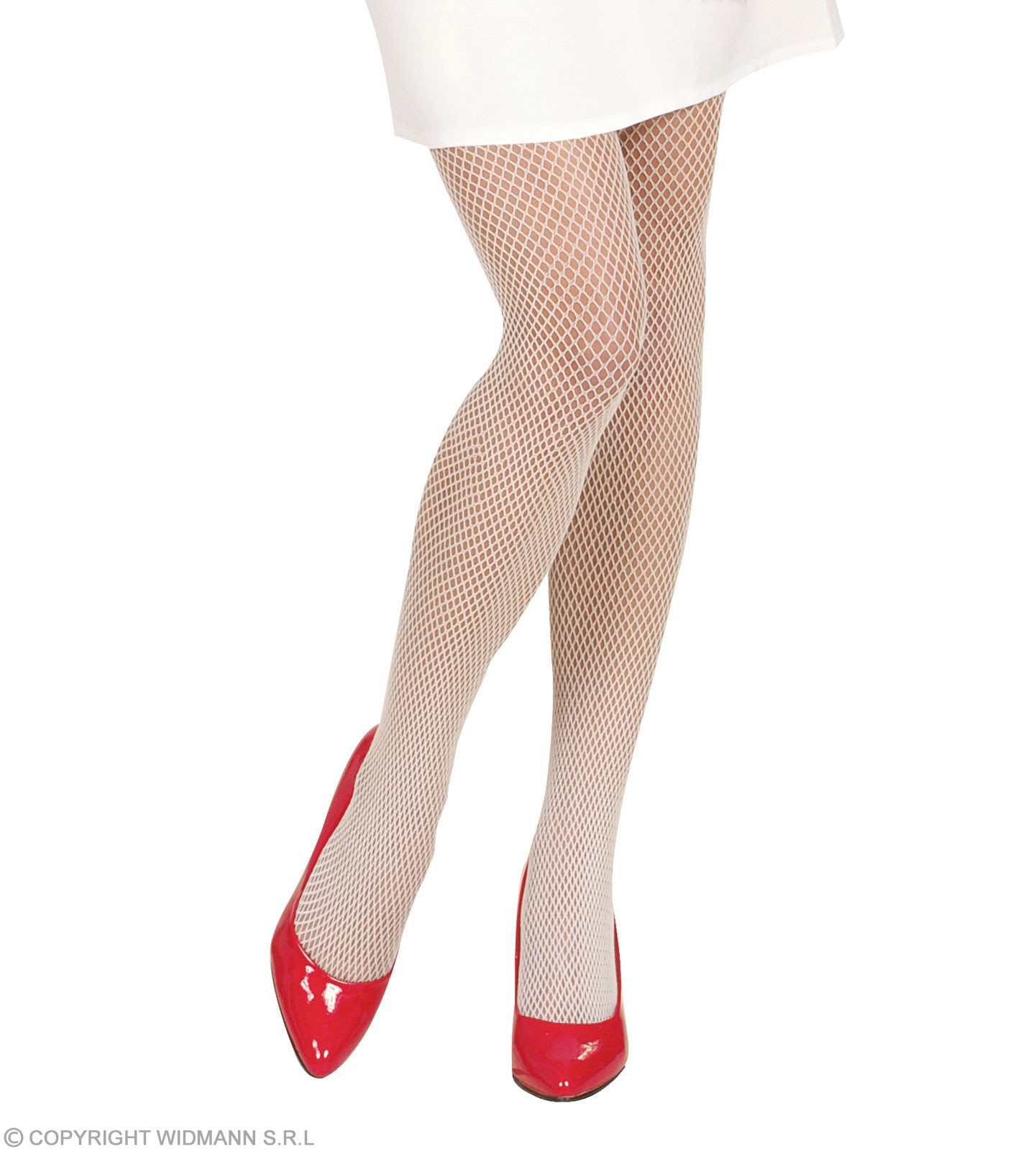 Xl Fishnet Pantyhose - White - Fancy Dress (Christmas)