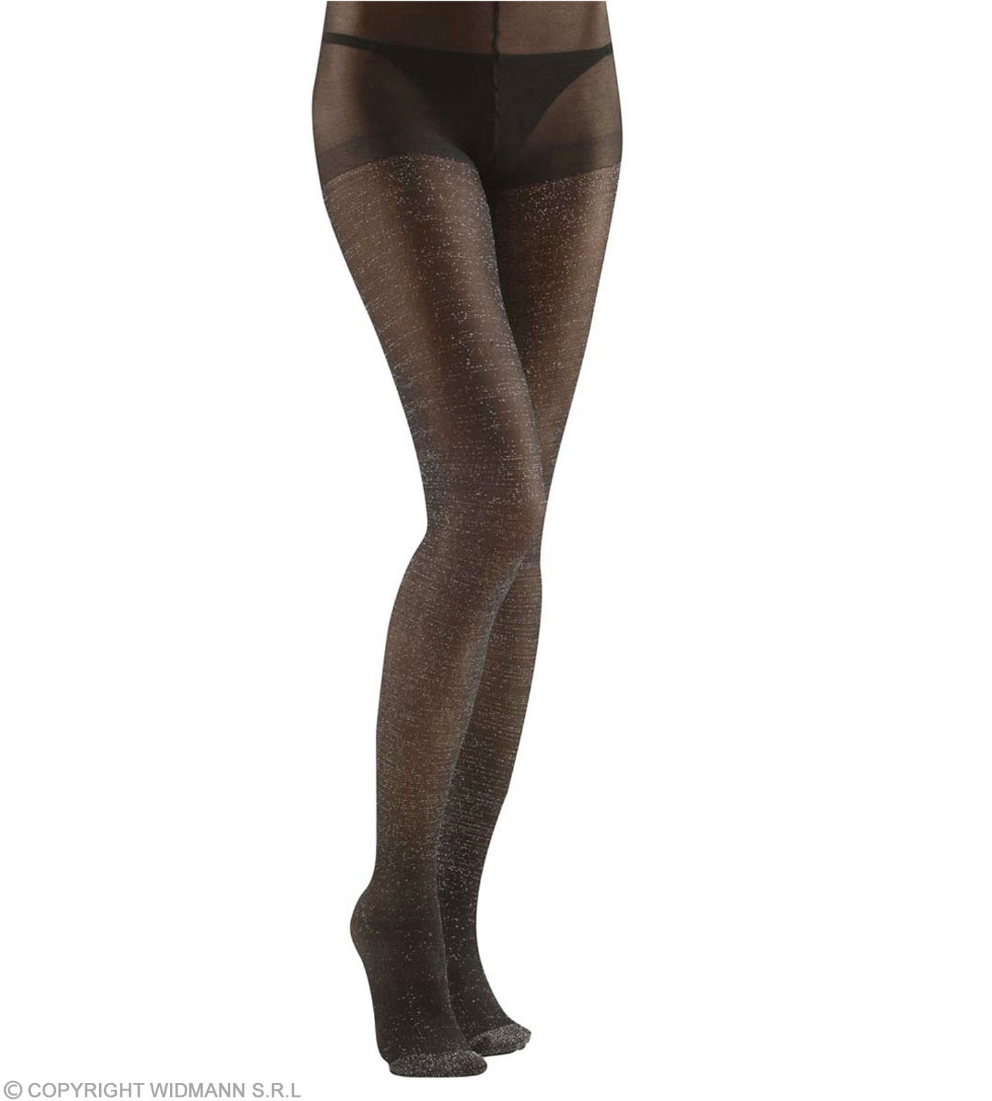 Pantyhose Glitter 40 Den Black - Fancy Dress