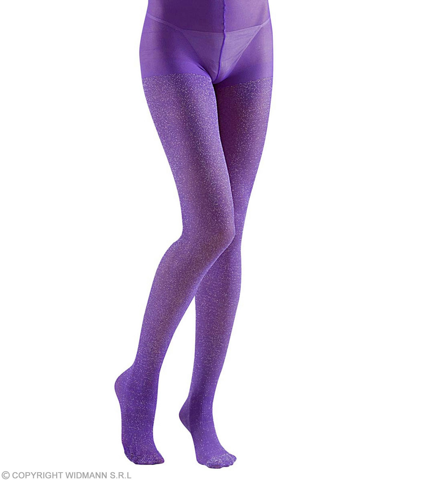 Pantyhose Glitter 40 Den Purple - Fancy Dress