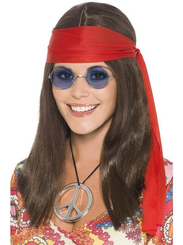 Hippy Chick Kit - Fancy Dress Ladies (1960S) - Brown