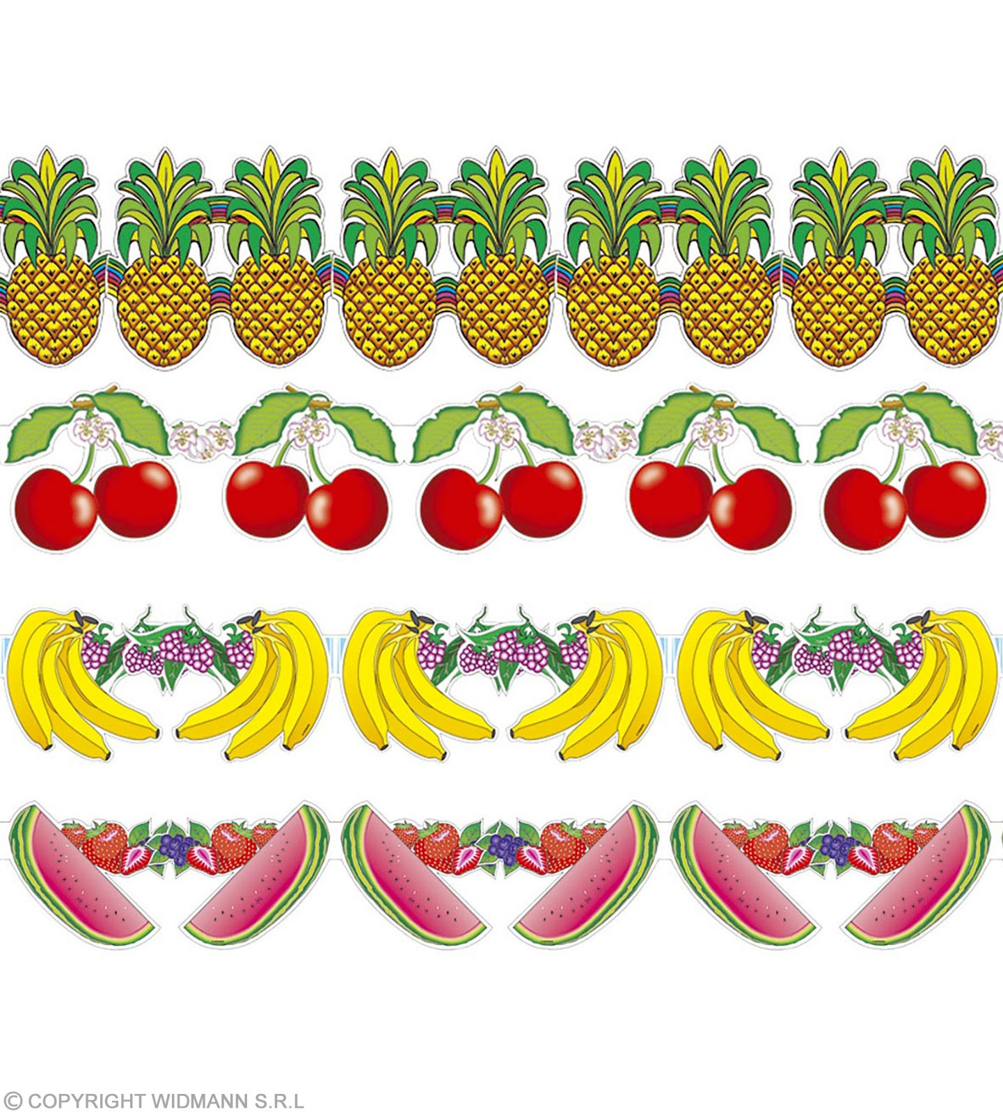 Fruit Garlands 3Mtrs 4 Styles - Fancy Dress