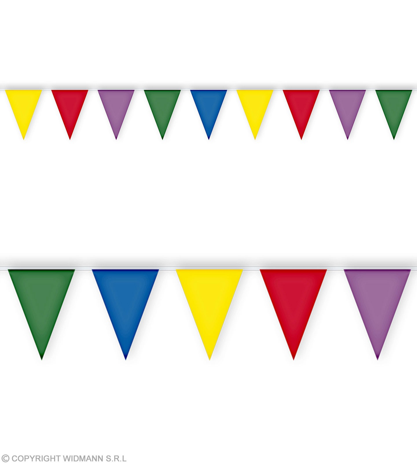 Pvc Flag Garland 10Mtr - Fancy Dress