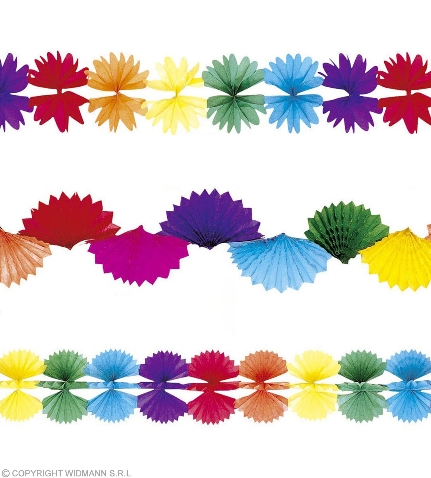 Paper Garlands Jumbo Luxury 4M 4 Styles Fancy Dress