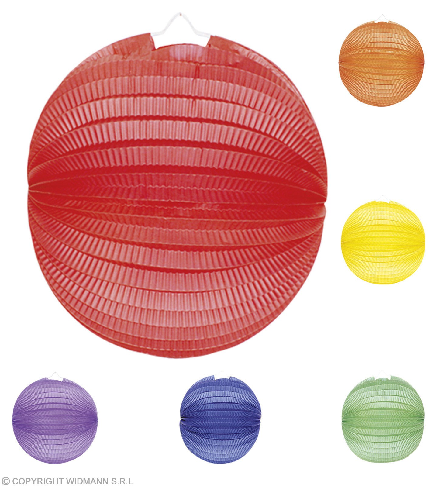 Paper Balls Unicolour Diam 25Cm 6 Cols Ass, Fancy Dress