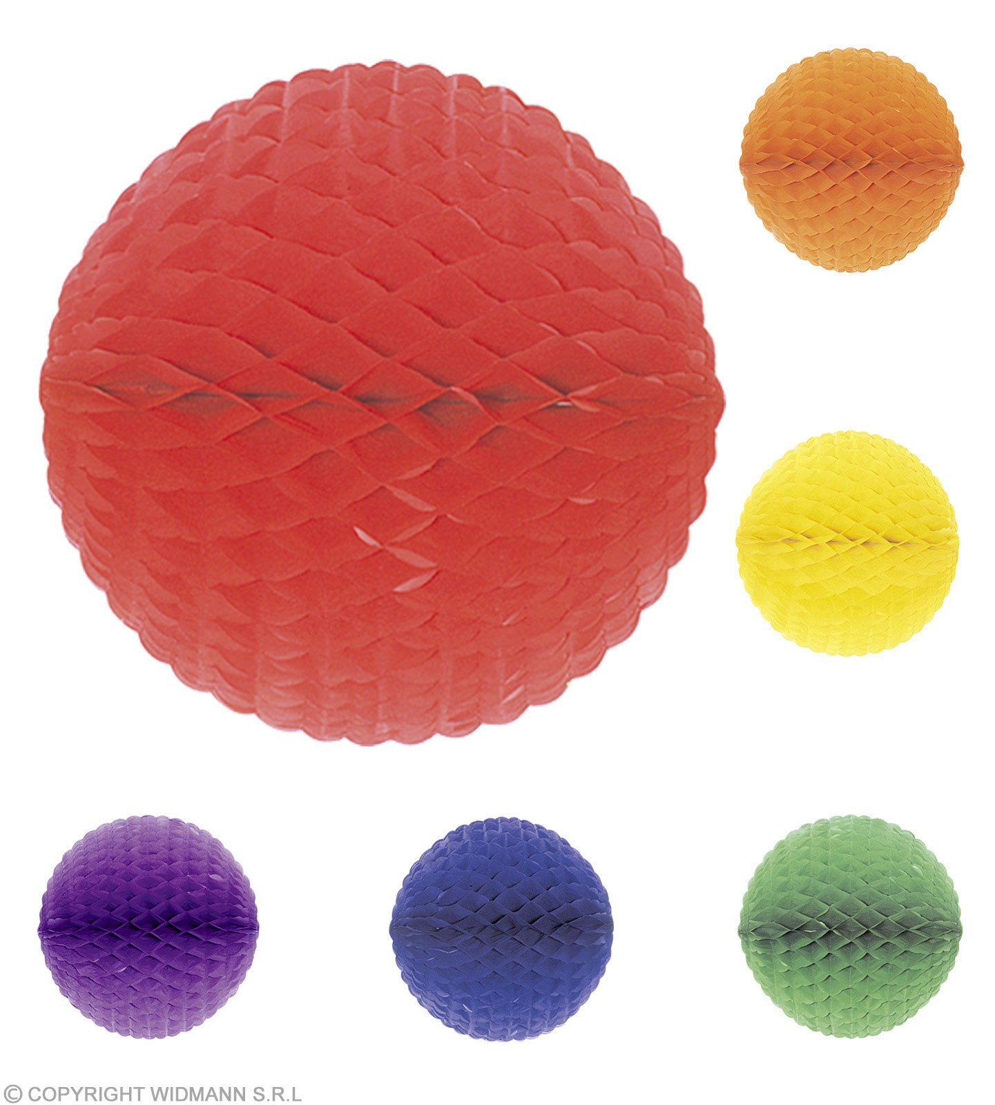 Unicolour H/Comb Paper Balls 28Cm Diam - Fancy Dress