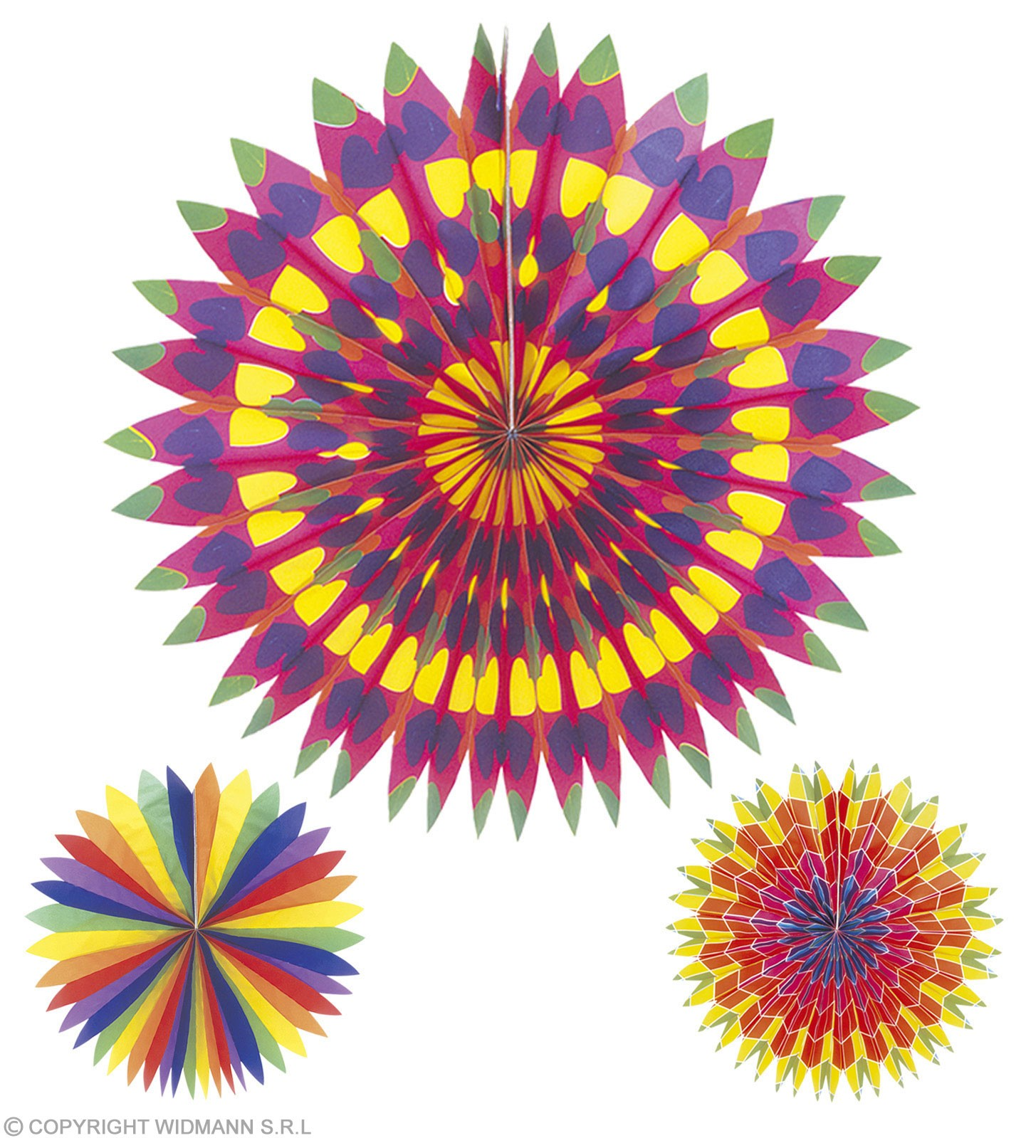 Printed Paper Fans 50Cm - Fancy Dress