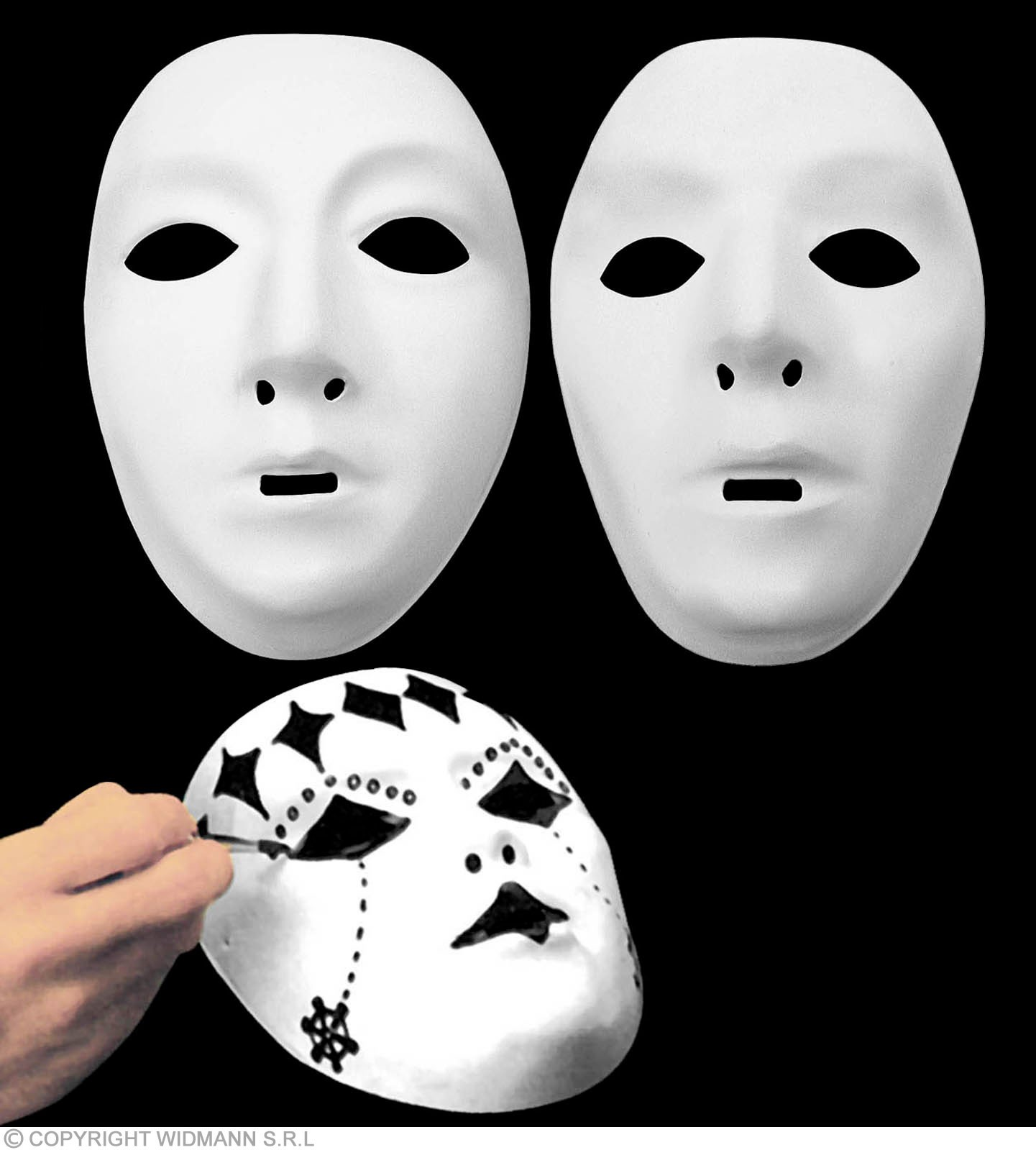 Mask Paintable White Plastic - Fancy Dress