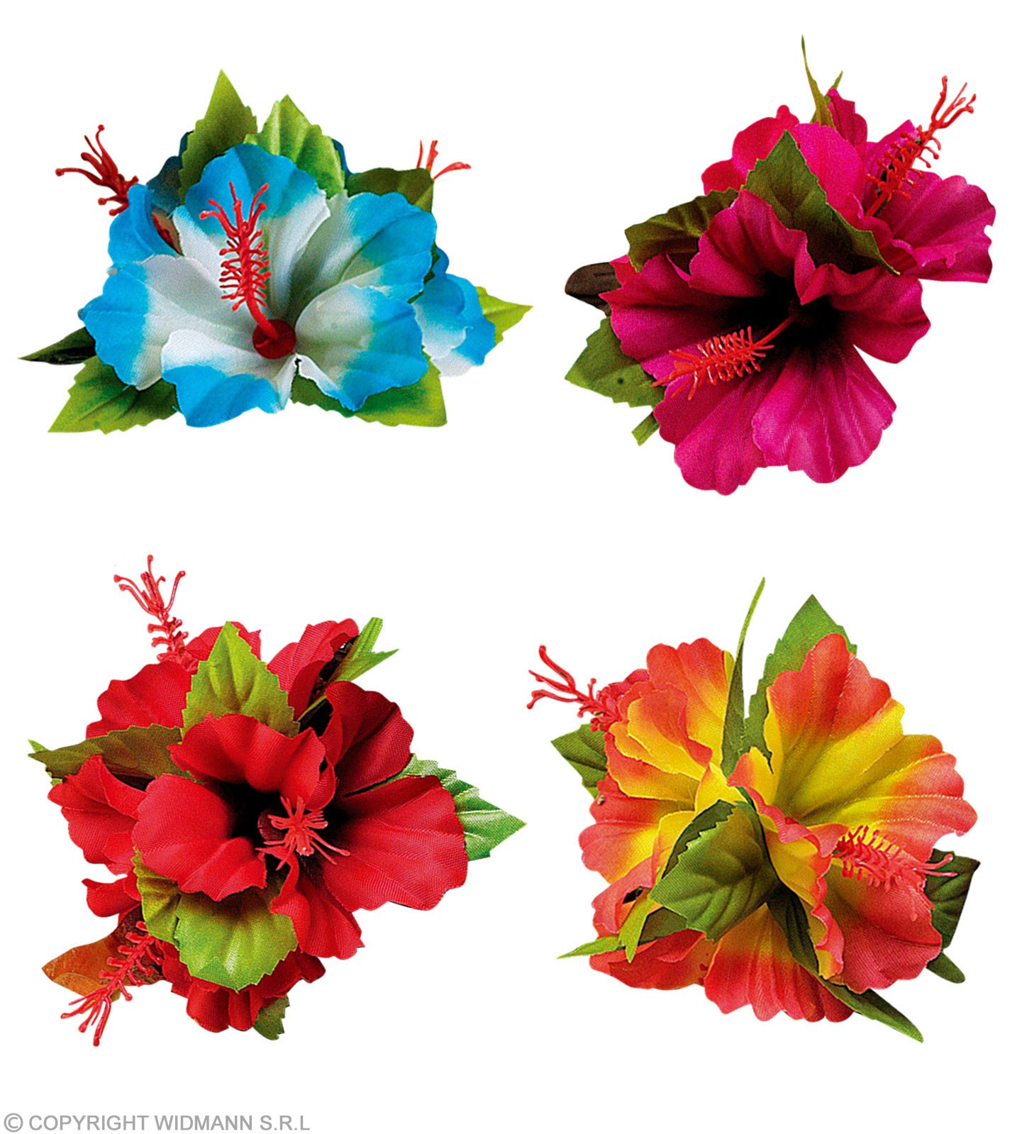Buy Hairclip 3 Hibiscus Flowers Fancy Dress Largest Online Fancy