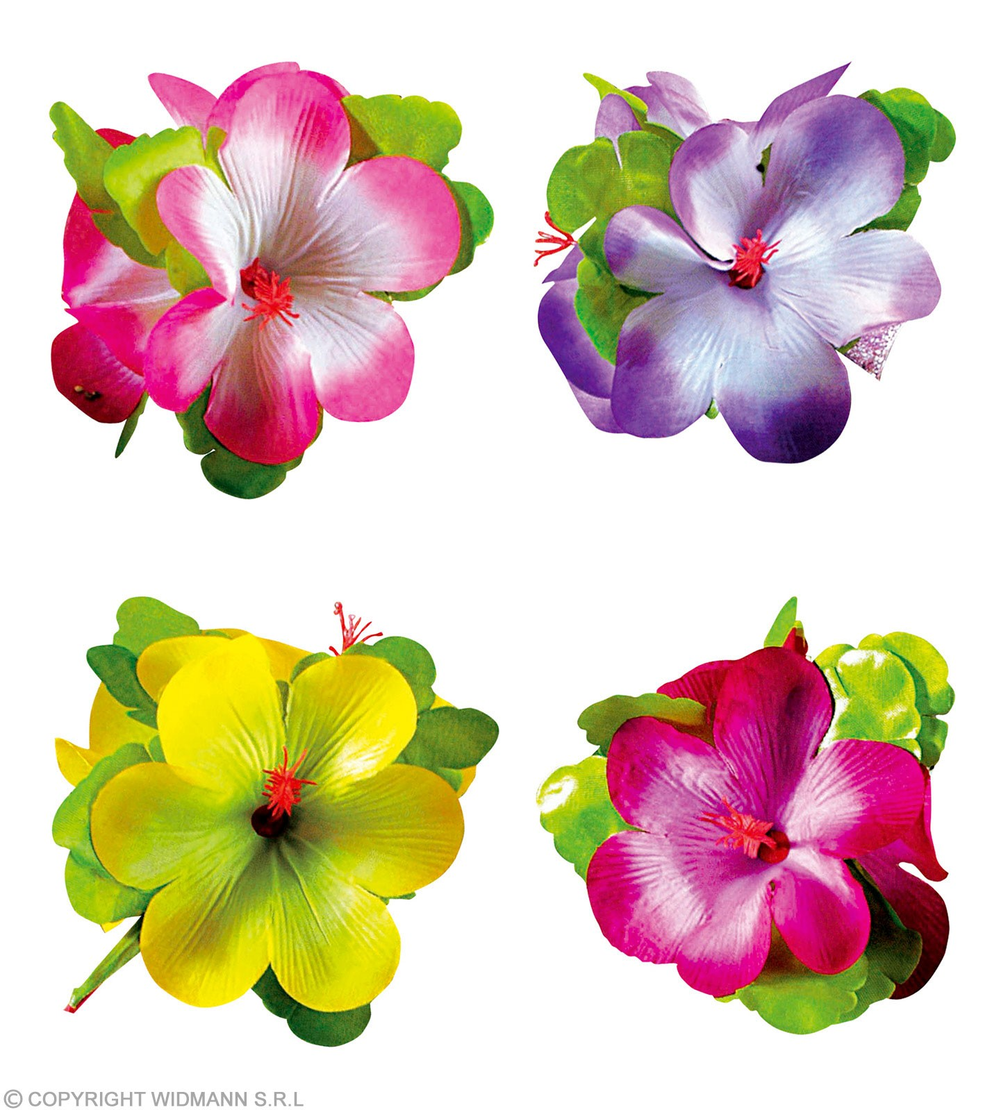 Single Large Hibiscus Flower Hairclip - Fancy Dress