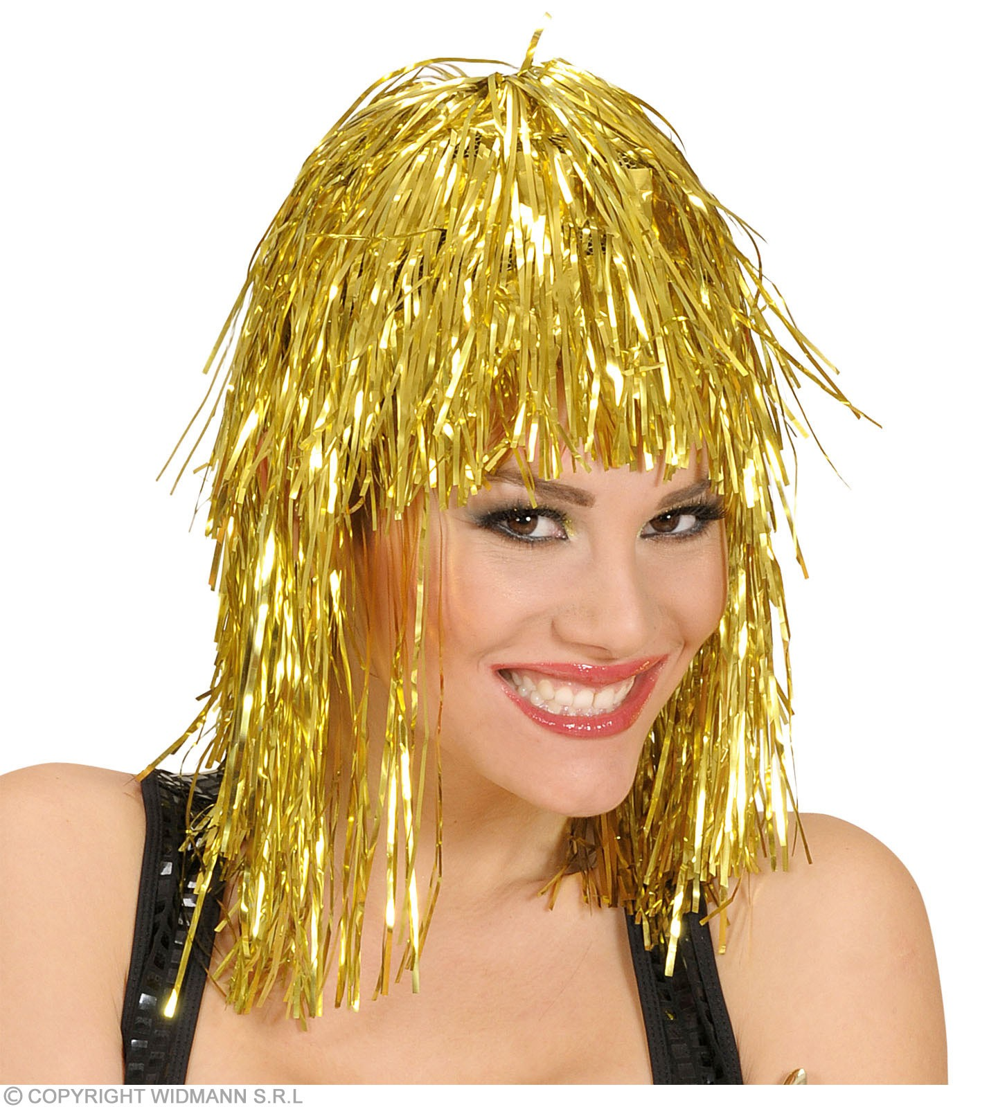 Disco Wig Gold - Fancy Dress (1970S)