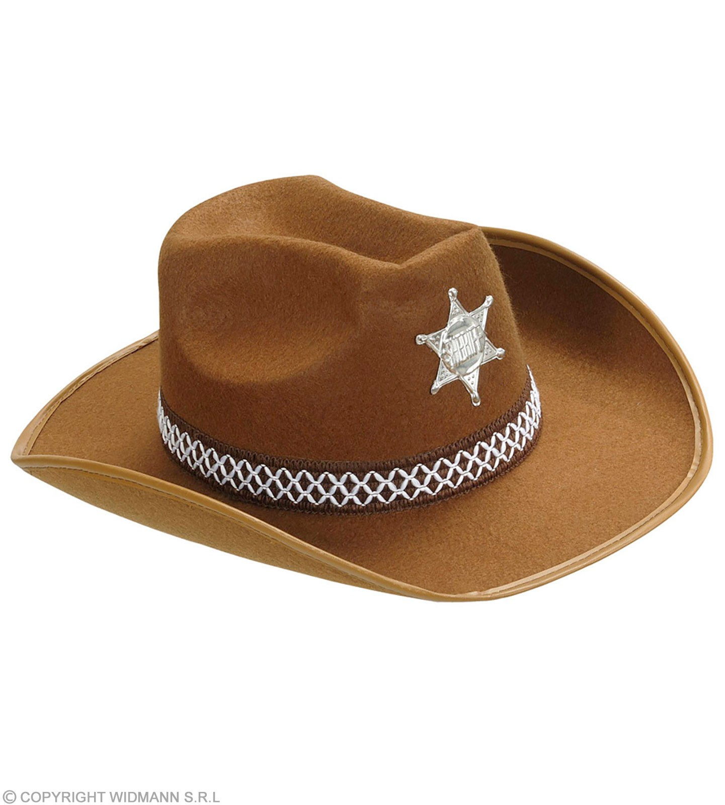 Child Size Brown Felt Sheriff Hat Fancy Dress Boys