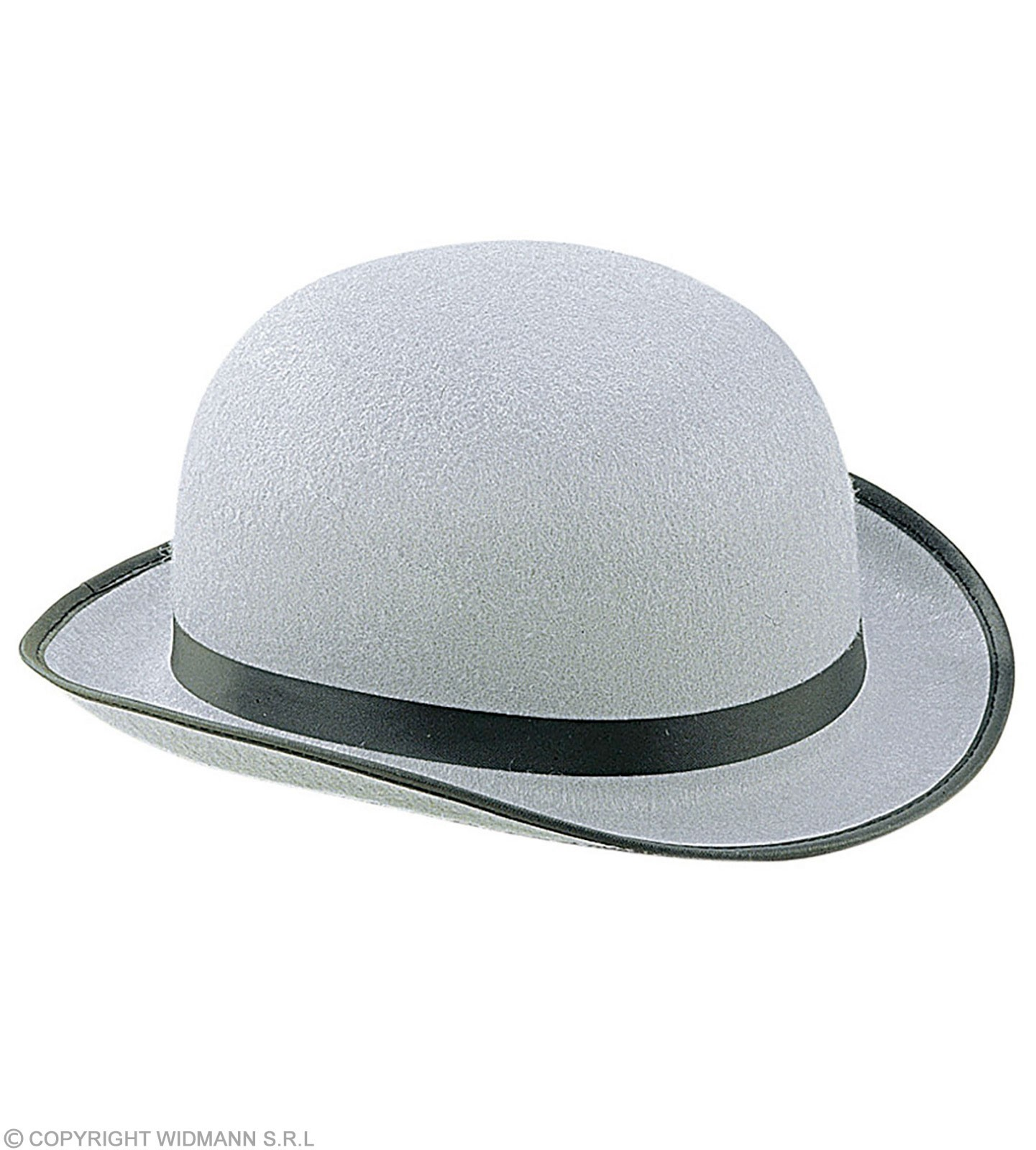 Bowler Big Felt Grey - Fancy Dress