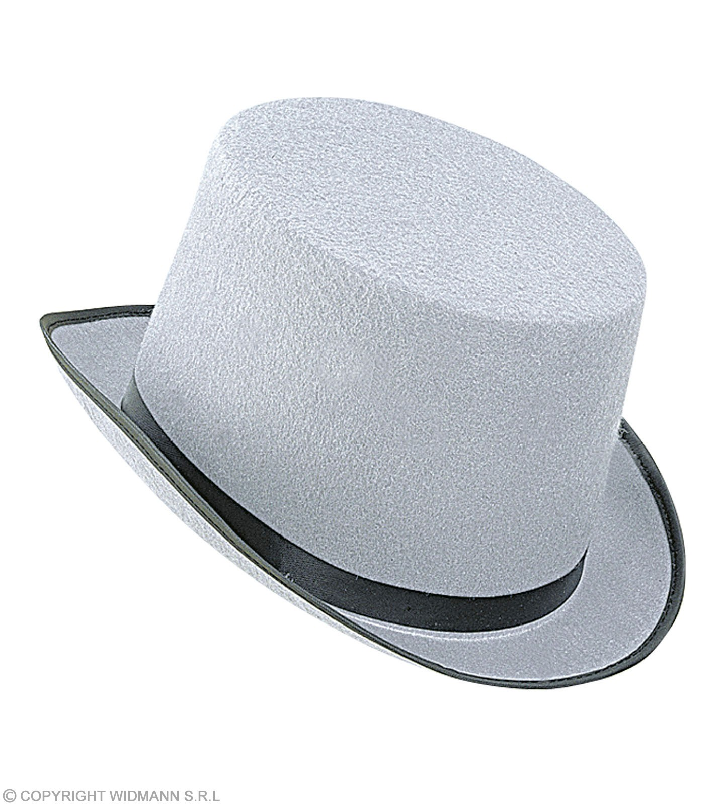 Topper Big Felt Hat Grey - Fancy Dress