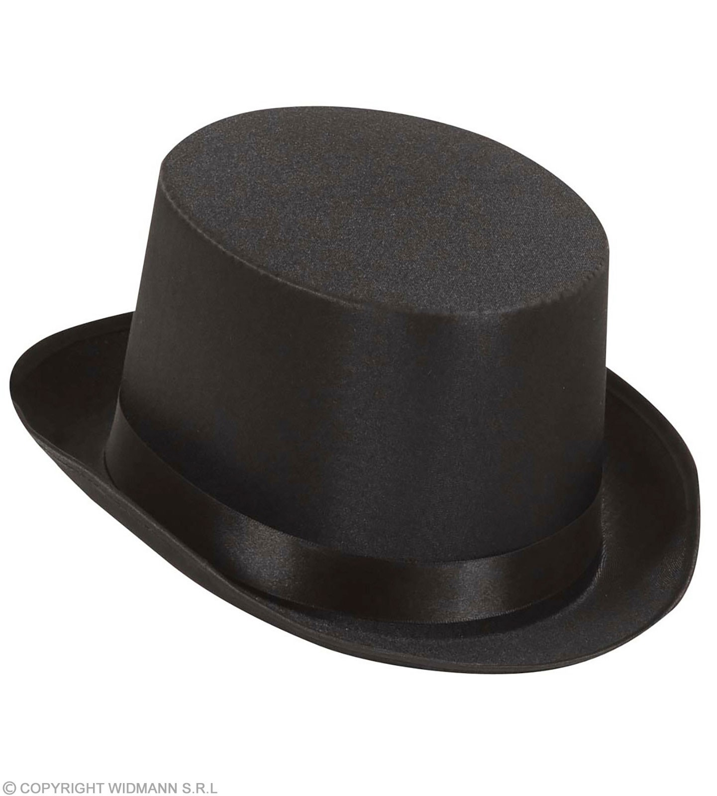 Top Hat Black Satin - Fancy Dress