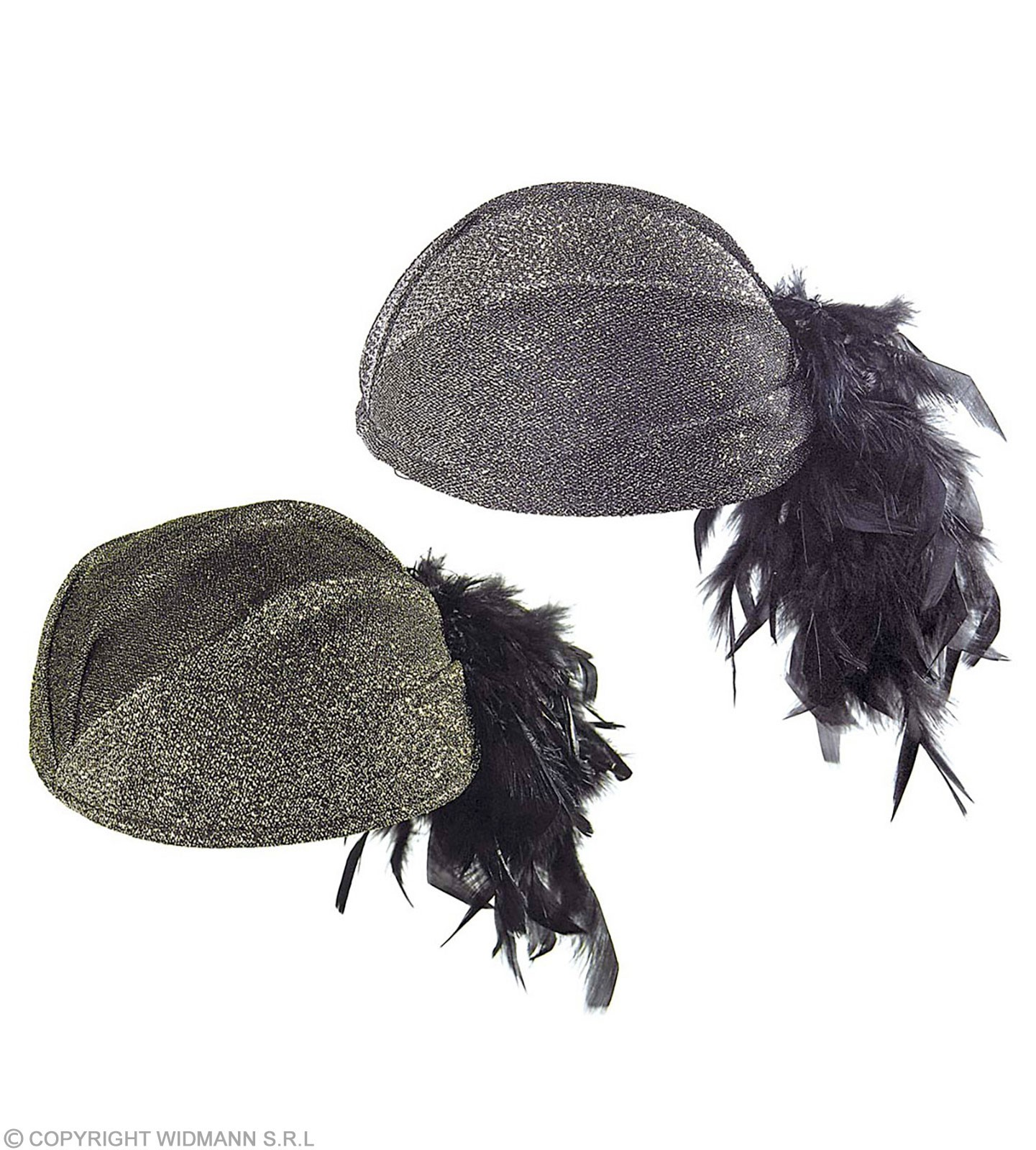 Trimmed Felt Lilly Hat W/Feather 2Cols - Fancy Dress